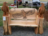 Perched Eagle Bench